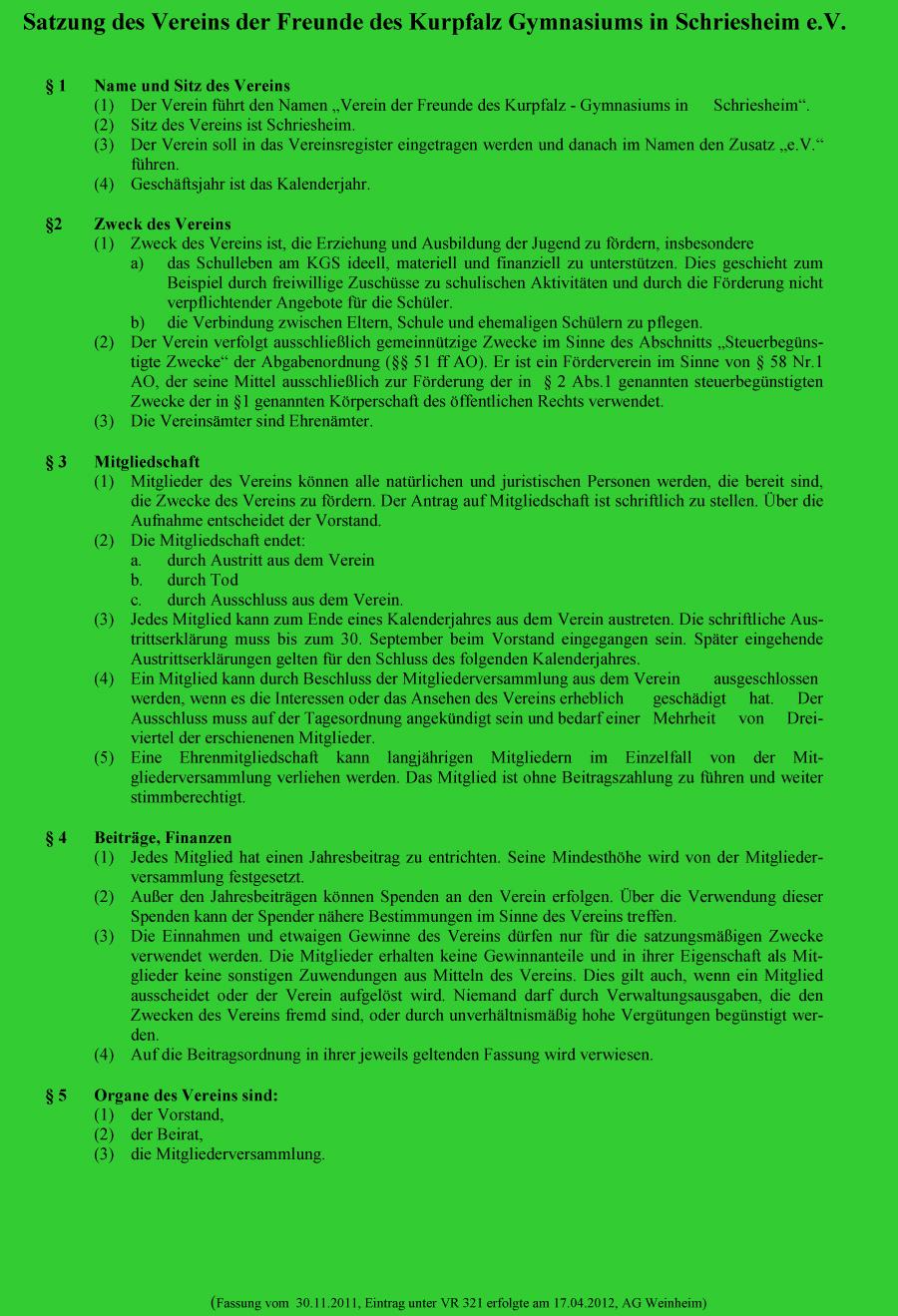 Satzung Stand 2012 Seite 1